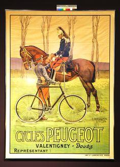 """Vintage """"Cycles Peugeot"""" Reproduction Poster, Home Wall Art, Print Peugeot, Vintage Ads, Vintage Posters, Bike Poster, Vintage Cycles, Bicycle Art, Cycling Art, Paris, Horse Art"""
