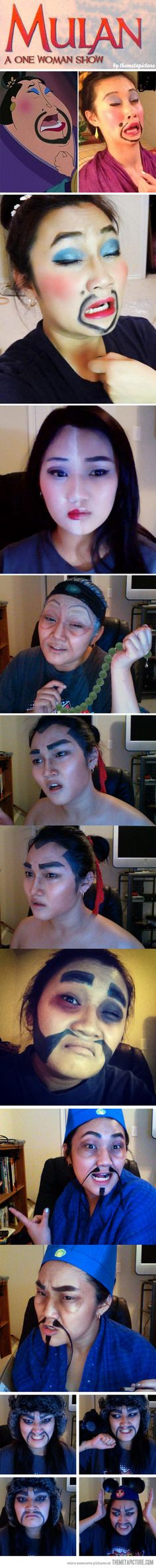 Mulan, a one woman show…