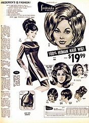 1960's Frederick's of Hollywood wig advertisement #vintage #advertisement #fredericksofhollywood