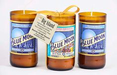 Blue Moon Beer Candle Brown Bottle Belgian White Gift for Beer Lover Belgian Style Wheat Ale Spirits Brew Hops Malt Suds Brewski Chill by doublebrush on Etsy https://www.etsy.com/listing/231668920/blue-moon-beer-candle-brown-bottle