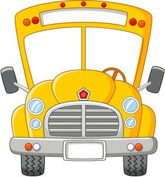 School bus front yellow no background Magic School Bus, I School, Back To School, School Bus Drawing, Bus Art, School Bus Driver, School Clipart, Wheels On The Bus, Frame Clipart