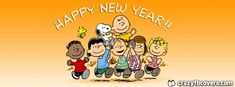 Peanuts Gang Happy New Year Facebook Cover Facebook Timeline Cover