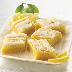 Tart lemon bars with a buttery pat-in-the-pan crust and a tangy lemon filling make them a favorite.