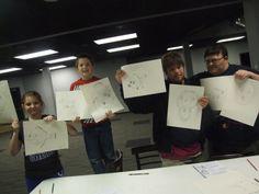Art Smart Drawing night #SMILEonDownSyndrome #ArtSmart #CampIdeas #ClassIdeas  www.smileondownsyndrome.org
