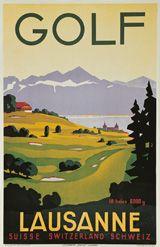 Fortuné Bovard  Golf Lausanne Suisse, Switzerland, Schweiz  Année: 1936