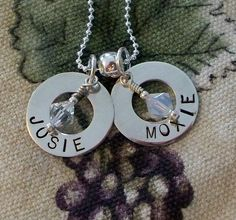 Open Washer with Birthstone Charms - Double by Expressitjewelry, via Flickr