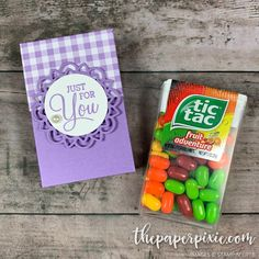 Tic Tac Gift Box with Video Tutorial - The Paper Pixie Hannelore Drews, Stampin Up, Corporate Gift Baskets, Treat Holder, Treat Box, Birthday Gift Baskets, Candy Gifts, Fun Gifts, Packaging