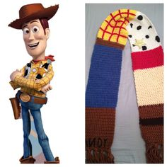 Toy Story Knitting Patterns Woody : 1000+ images about Crochet scarfs on Pinterest Scarf crochet, Crocheted sca...