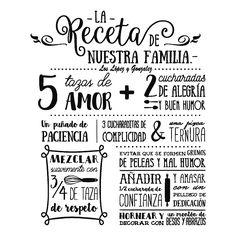 Vinilo La Receta de Nuestra Familia