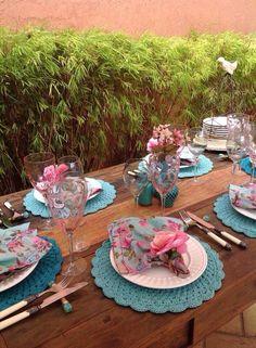 Mesa de jantar ao ar livre