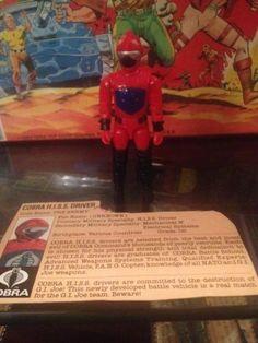 SOLD! GI JOE COBRA 1983 H.I.S.S. HISS DRIVER 100% COMPLETE + FILE CARD VINTAGE HASBRO