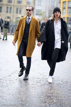 cute couples, fashionable couples, justin oshea, justin o'shea and veronika heilbrunner, london fashion week Cool Street Fashion, Street Style Women, Justin O'shea, Stylish Couple, Mode Chic, Fashion Couple, Couple Outfits, Well Dressed Men, Beautiful Couple