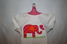 Elephant Applique Shirt by TheLittleElephants on Etsy, $16.00