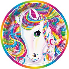 Rainbow Majesty Dessert Plates - Fast Shipping - 8 per package