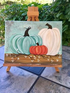 86 Stunning Art Canvas Painting Ideas for Your Home - artmyideas Fall Canvas Painting, Autumn Painting, Autumn Art, Tole Painting, Diy Canvas, Fall Paintings, Canvas Ideas, Pumpkin Painting, Painted Canvas
