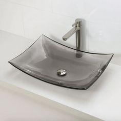 "Decolav Modern 24"" Honeycomb Rectangular Above-Counter Resin Lavatory Bathroom Sink 2800-HNC"