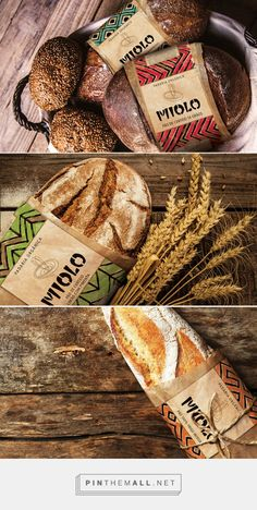 Miolo Organic Bakery by Roger Testa. Pin curated by #SFields99 #packaging #design