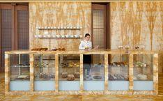 The Café | Café Royal - David Chipperfield book matching monolithic stone design