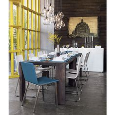 firefly pendant lamp in pendant lamps, wall sconces | CB2  double up and put vintage bulb inside over dining table