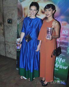 Kalki Koechlin and Sayani Gupta at the screening of 'Margarita With A Straw'. #Bollywood #Fashion #Style #Beauty