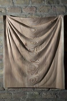 Péter Gálhidy  Kendő larch, 2016 Contemporary Sculpture, Tapestry, Abstract, Wood, Artwork, Decor, Hanging Tapestry, Summary, Tapestries