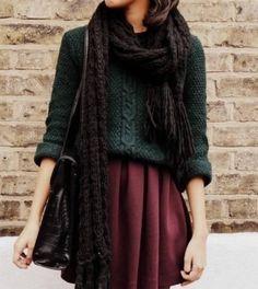 кожаная юбка и свитер - Пошук Google