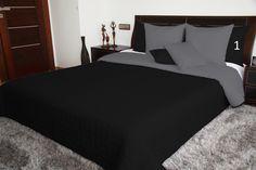 Oboustranné přehozy na dvojlůžka černé barvy Bed Sets, Minimalist Home, Comforter Sets, Comforters, Luxury, Furniture, Home Decor, Blankets, Beautiful
