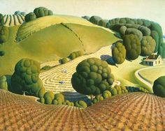 Young Corn   by Grant Wood   Giclee Canvas Print Repro