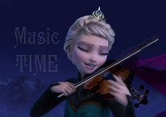 Elsa - Music time by on DeviantArt Frozen 2013, Disney Frozen, Frozen Memes, Queen Elsa, Olaf, True Love, Acting, Fandom, Deviantart