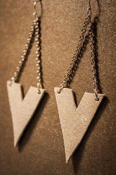 Archer Leather Earrings - Silver Filigree