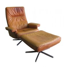 Vintage De Sede ds35 highback lounge chair + ottoman