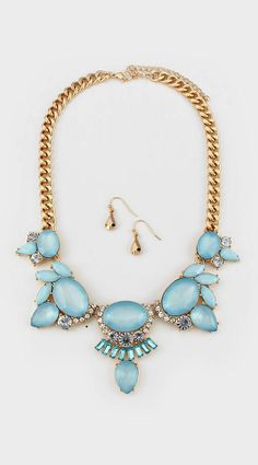 Lani Necklace in Aspen Blue