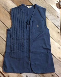 438da5d7ab7c8 EUC Bob Allen Skeet Olympic Trap Shooting Vest BLUE Mens Med made in  USA🇺🇸 | eBay