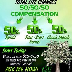 The best comp plan in the industry. Get in now to secure your spot. We get paid 5 different ways. Join now with as little as 40$ USD, you get amazing all natural Products, AND get paid!! www.totallifechanges.com/didifreeman #MLM #Makemoney #TLC #Totallifechanges #Compensation #IASO