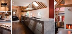 Landelijk moderne keuken - Eiland uitgevoerd met RVS fronten - betonnen aanrechtbladen met doorlopende betonnen zijwanden zijn ter plaatse gegoten - Pitt Cooking kookplaat - Gessi kraan - hoge kastenwand uitgevoerd in massief eiken hout - Miele apparatuur - The Living Kitchen by Paul van de Kooi