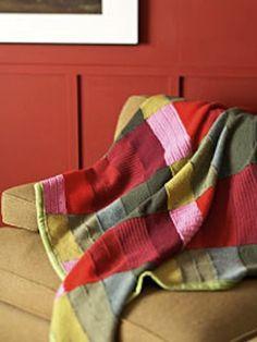 Repurposed sweater blanket. Nice!