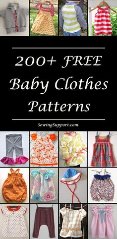 Lots of free patterns and tutorials for baby clothes. #babydiy #babypatterns #freesewingpatterns