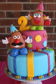 Mr.  Mrs. Potato Head Cake #cakedecorating