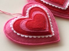 Image result for felt heart ornaments