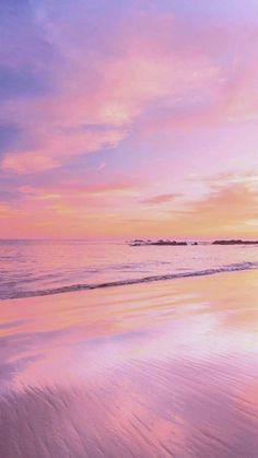 Beautiful pink sunsets, clear blue ocean water, fresh water, salt water, beach shores, colorful sky