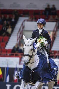 Anna Kärkkäinen and Elves Angel won the Small Tour Final. Helsinki International Horse Show, Finland, October 2016