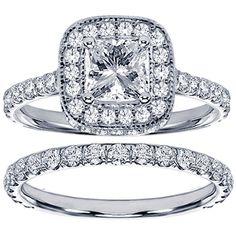 14k White Gold 2 2/5ct TDW Diamond Bridal Ring Set (G-H, SI1-SI2) (Size 11.5), Women's (solid)