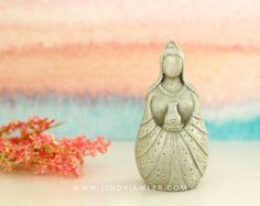 Quan Yin Kwan Yin - Fertility Goddess Statue Doula Midwife Gift Mother Earth Goddess Sculpture Pagan Buddhist Altar Birth Art Womb blessing