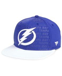 9f210ef901a38 Authentic Nhl Headwear Tampa Bay Lightning Rinkside Snapback Cap - Blue  Adjustable Tampa Bay Lightning