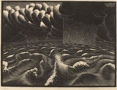 M.C. Escher. The Second Day of the Creation. 1925.