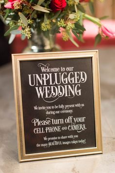 A polite way to tell your guests to turn off their phones and cameras during the ceremony | Lauren Fair Photography