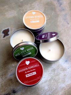 Fleurty Girl - Everything New Orleans - NOLA Soy Candle, $9.95. Eco-friendly soy candle in a metal tin, inspired by NOLA neighborhoods and scents.