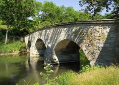 Burnside's Bridge is a landmark on the Civil War Antietam National Battlefield near Sharpsburg, northwestern Maryland.