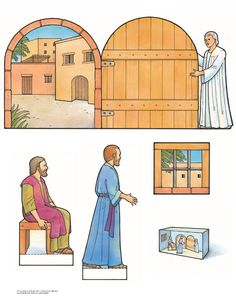 Peter and John Delivered from prison printable