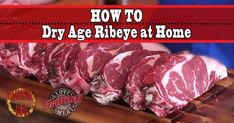 If you have had a good, aged steak, you know it is more tender and flavorful than what you typically buy in the store. Here's how to dry age ribeye at home…Whole ribeye roast (used here: 17 lbs) Dry Aged Ribeye, Dry Aged Steak, Kitchen Unit, Kitchen Oven, Ribeye Roast, Outdoor Oven, Prime Rib Roast, Perfect Steak, Steaks